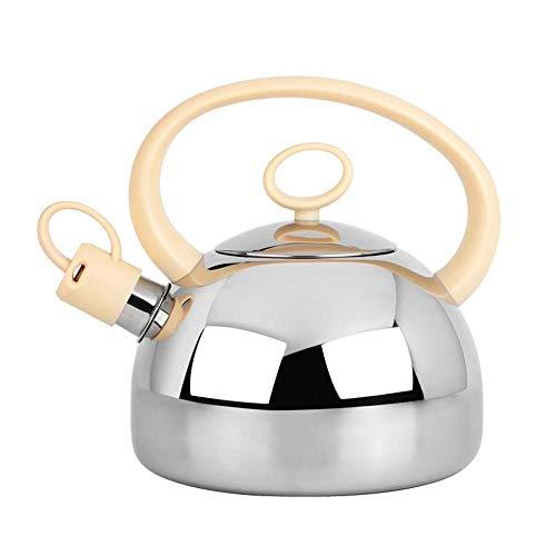 Bouilloire induction Grand Whistling Kettle moderne en acier inoxydable 2ltr Cuivre gaz Plaque de cuisson électrique Poêle à bois WHLONG