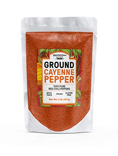 Ground Cayenne Pepper, 2 lbs. by Unpretentious Baker, High Quality & Fresh, Loaded with Nutritional Benefits, High in Antioxidants*, Curb Your Hunger & Boost Your Metabolism*