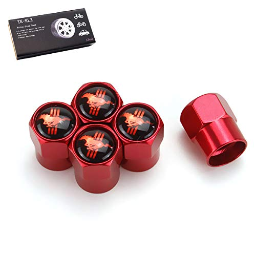 TK-KLZ 5Pcs Car Wheel Tires Valve Stem Caps for Ford Mustang Car Styling Decorative Accessories