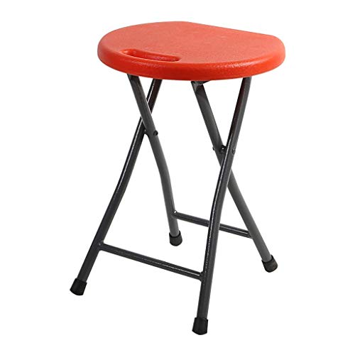 ZXJ Taburete Plegable, Silla de Comedor Inicio Plastic High Stef Simple Mesa de Comedor Acolchada Portátil Taburete al Aire Libre Adulto Sentado Heces Estudiante Dormitorio Taburete (Color: D)