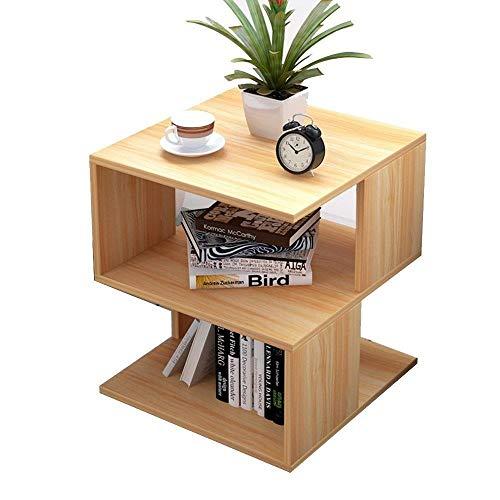 DNSJB - Estante de almacenamiento multifuncional para sofá, mesa auxiliar para dormitorio y sala de estar (color: color madera)