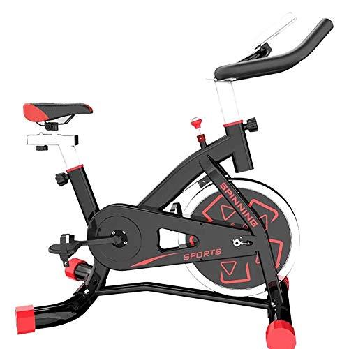 YLJYJ Bicicleta estática - Bicicleta de Ciclismo Interior silenciosa - Bicicleta estática con Soporte para Tableta & Cojín de Asiento cómodo - Máquina de Gimnasio para Entrenamiento en casa