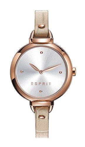 ESPRIT Damen Analog Quarz Uhr mit Leder Armband ES109522002