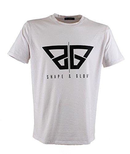 SHAPE & GLORY | Fitness T-Shirt | Gym | Streetwear | Slim Fit (white, XL)
