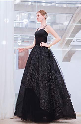 SM&WD Abito da Sposa, Angelo Abito da Sposa Black Swan Nobile Nero Costumes Banquet Birthday Party Evening Dress XXXL