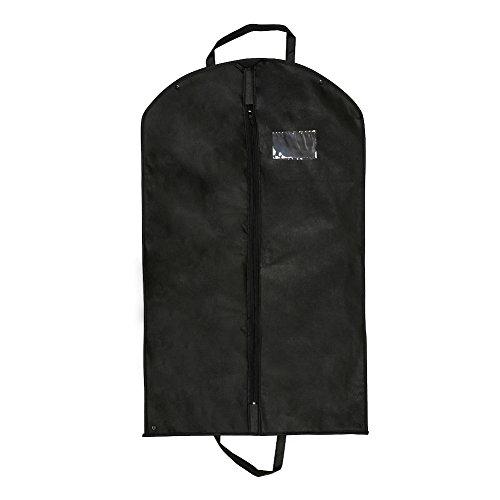 Custodia per abiti con maniglie borsa porta abiti per viaggio, respirante, pieghevole, portabile 60cm*100cm(Nero) (1 pcs)