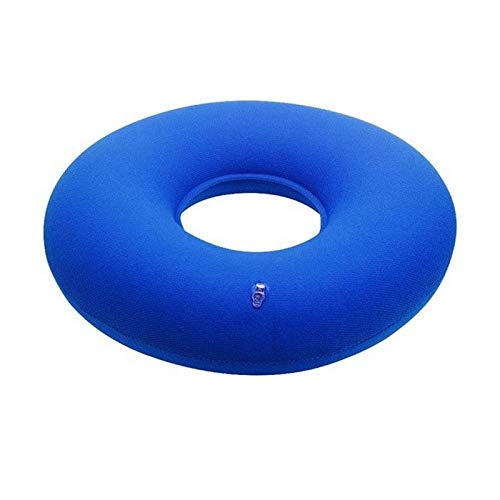 ZALE Waist protection Seat Cushion, Doughnut Inflatable Ring Round Chair Cushion, Waist and Hip Support Chair Cushions, for Office and Home Use stress reliever (Color : Blue)