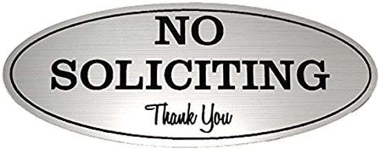 No Soliciting Sign – Digitally Printed Indoor/Outdoor Sign – Durable UV and Weather Resistant (Medium - 2.8