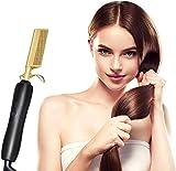Monlida Peigne à Lisser Peigne Chauffant Brosse Lissante Cheveux, 3 Réglages de Température Chauffant Rapide