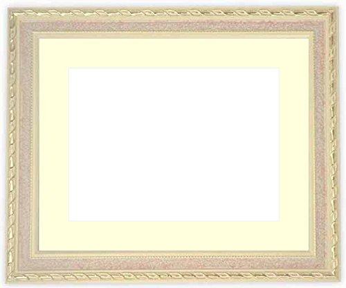 写真用額縁 5663/ピンク ハガキ(152×102mm) ガラス マット付 写真/5663/ピンク マット色:黒
