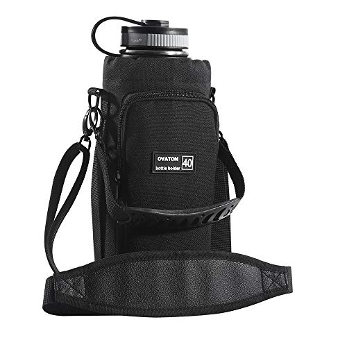 OYATON Insulated Water Bottle Holder with Strap for 32oz 40oz 64oz Water Bottles, Bottle Carrier Bag Case Pouch Cover with Pocket for Walking Gym Travel, Keep Your Drink Cool(Exclude Water Bottle)