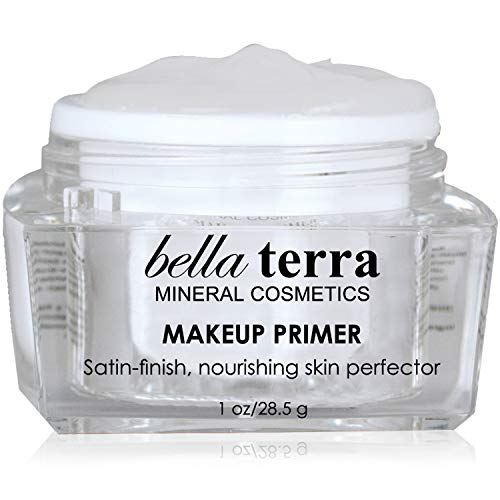Face Primer - Pore Minimizer Foundation Face Base - Erases Wrinkles and Fine Lines - Hydrating Satin Finish -Helps Durability of Makeup - Natural Mineral Cosmetics - No Oily Residue on Skin (1 oz)
