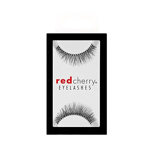 Red Cherry False Eyelashes #747S, Black (Pack...