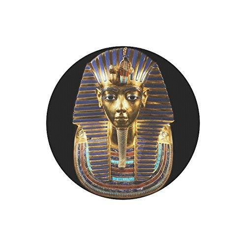 NA Antico Egitto Maschera funeraria di Tutankhamon Rotondo Tappetino per Mouse in Gomma Antiscivolo Tappetino per Mouse con Disegni