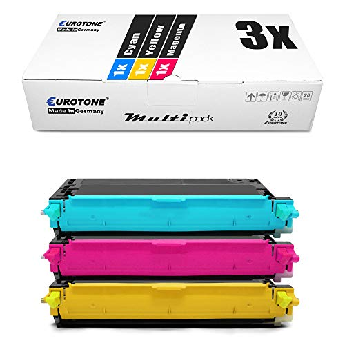 3x Eurotone Toner for Dell 3110 3115 wie 593-10171 - 593-10173 Color Cyan Magenta Yellow