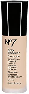 Boots No7 Stay Perfect Foundation 30ml - Warm Beige
