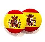 Durabol 2 PCS Pin Chapa con IMPERDIBLE con Bandera Y Escudo ESPAÑA Spain +