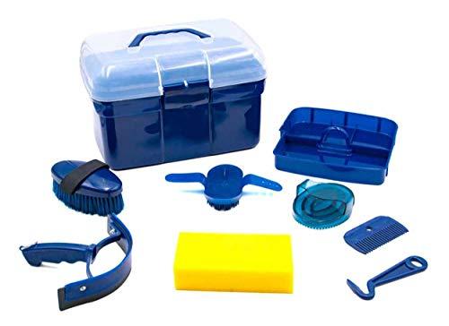 AMKA Putzbox für Kinder Putzkasten - Putzkoffer gefüllt 7 Teile (dunkelblau)