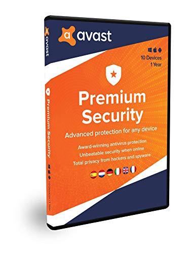 Avast Premium Security | Multidispositivos | 10 dispositivos | 1 Año | En Caja