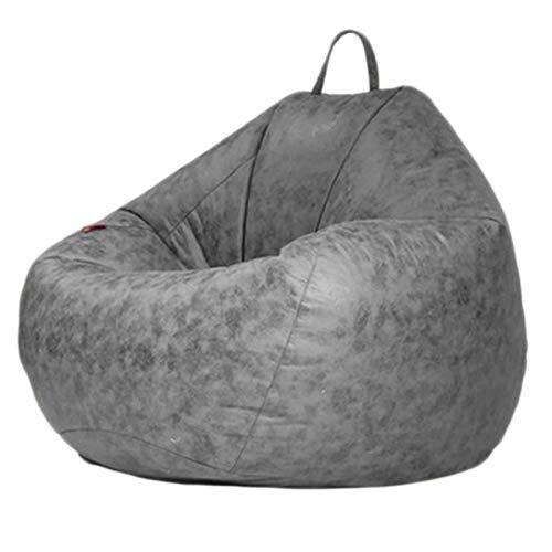 LDIW Otomano Puff Gigante para Decoracion Habitacion Cojines para Suelo Grandes Bean Bag con Bolsa de Frijol Gigante para Niños y Adultos,Gris,S