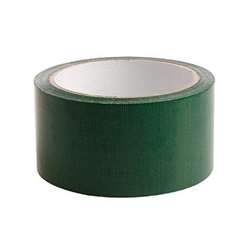 Yofo farbigen High Qualität Premium Panzerband Heavy Duty Gaffer Tape Wasserdicht selbstklebend Reparatur Buchbinden Tuch Klebeband (5cm x 10m), grün