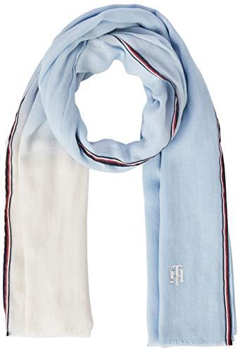 Tommy Hilfiger Damen Th Chic Scarf Schal, Blau (Breezy Blue C39), One Size (Herstellergröße: OS)