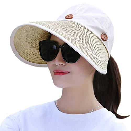 Muryobao Women's Wide Brim Floppy Hat Packable Straw Sun Caps Summer UV...