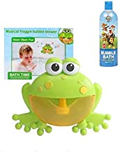 Koko Dee Bubble Froggy Bubbly Music Frog Bath Kids Time Fun Bubble Maker with Bubble Bath Formula Included
