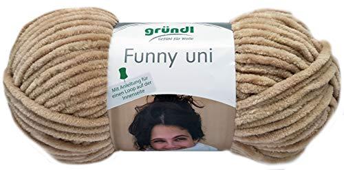 Gründl Funny 100g Softgarn aus 100% Polyester (19 Beige)