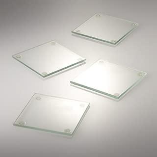 "Eastland Square Glass Coaster 4"" Set of 12"