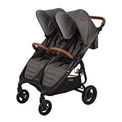 Super Lightweight Twin at approx 26 lbs, Disney Approved Easy One Hand Compact Fold with Auto Lock Seperate Reclining Seats and Canopies with Extra Canopy Coverage Adjustable Handle and Foot Rest and Front Bars Included March BONUS:Rain Cover Include...