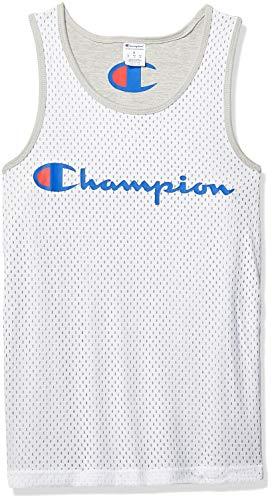 Champion Men's Reversible Mesh Tank, White/Oxford Grey, XX-Large