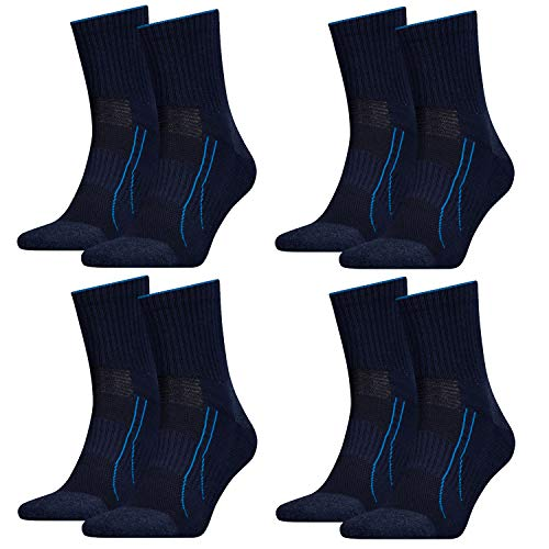 PUMA Performance Train Short Socks 8 Paar (4x2 P) Sportsocken Allround Sports (43/46, Navy (321))