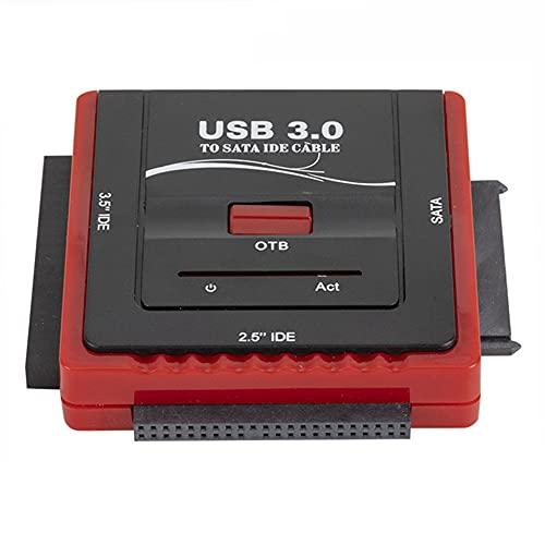 Zayaa Adaptador de Disco Duro USB 3.0 a SATA/IDE Universal 2.5/3.5 Pulgadas HDD SSD Cable Adaptador de Disco Duro de EE. UU. / UE para computadora portátil de Escritorio