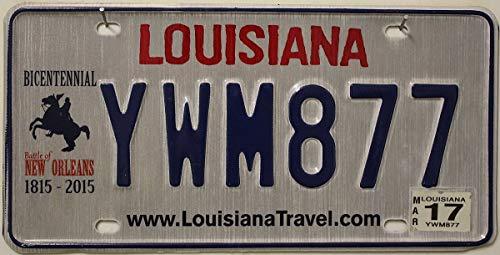 """USA Nummernschild LOUISIANA ~ License Plate BICENTENNIAL ~ US Fahrzeug Schild \""""Battle of New Orleans 1815-2015\"""" ~ Autokennzeichen"""
