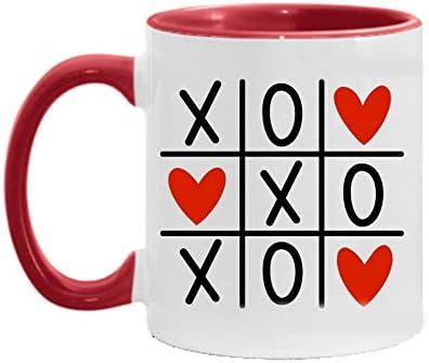 X O X O Coffee Mug Love Coffee Mug Coffee Cup Hugs and Kisses Coffee Mug Cute Coffee Mugs Valentine product image