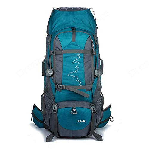 SHRAY Backpack Hiking The Grand 85L Waterproof Travel Bag for Men and Women Trekking Rucksack, Travelling Hiking Backpack for Outdoor, Travel, Camping Green