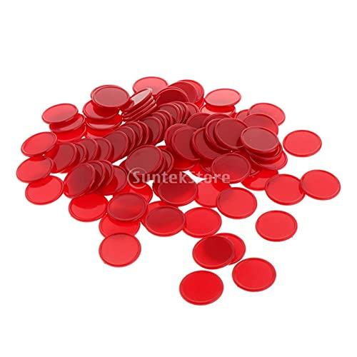 WYFDC 100x 25 Mm Poker Poker Counter Casino Chips Play Fun Juguete Regalo Poker Fichas De Póquer Conjunto (Color : Red)