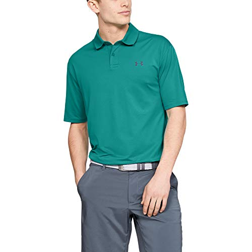 Under Armour Men's Performance 2.0 Golf Polo, Teal Rush (454)/Pitch Gray, Small