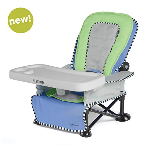 Summer Pop 'n Sit SE Recline Lounger, Sweet Life Edition, Blue Raspberry Color - Baby Lounger for Indoor/Outdoor Use, Grows with Baby and Can be a Floor and Booster Seat- Fast, Easy and Compact Fold