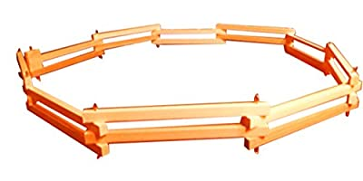 """Mom's Healthy Market Wooden Folding Fence / Corral Fence for Toy Farm Animals- 6' (Long) X 2"""""""