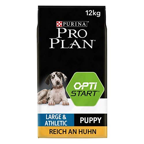 PURINA PRO PLAN Large Athletic Puppy Welpenfutter trocken mit OPTISTART, reich an Huhn, 1er Pack (1 x 12kg)