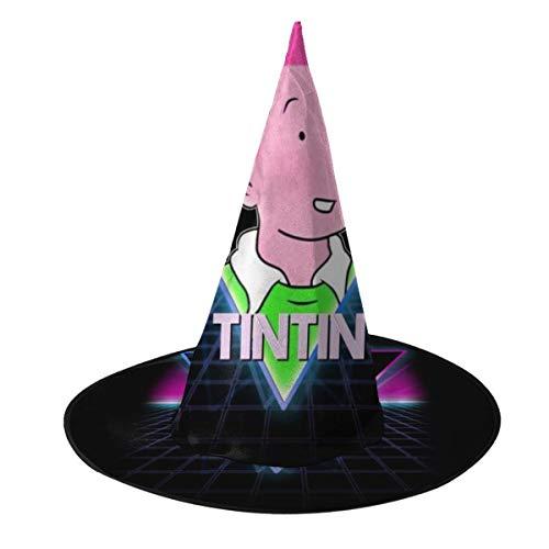 NUJSHF Tintin Retro 80s sombrero de bruja de paisaje nen, unisex, disfraz para vacaciones, Halloween, Navidad, carnaval, fiesta