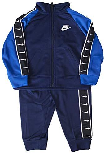Nike Kinder Trainingsanzug Swoosh Tape Tricot Blau 66G343-U90, Blau 18 Monate