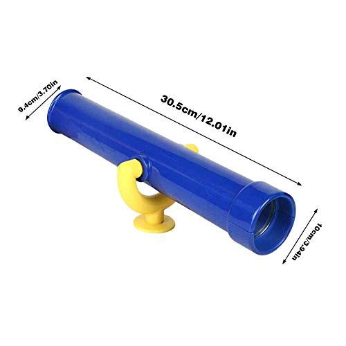 primrosely Fernrohr Spielzeug Teleskop Für Kinder Zubehör Für Spielturm Baumhaus Schaukel Zubehör Aus Holz Monokulares Plastikteleskop Rollenspielzeug Für Kinder Drehbar 30,5 X 10 X 9,4 cm