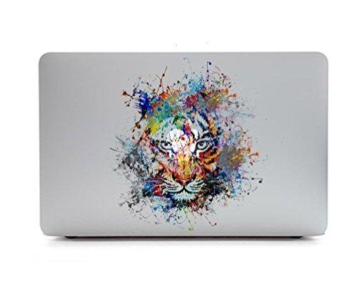 Sticker Adhesivos Macbook, Caroki Nuevo Arte Extraíbles Vinilo Adhesivo Desprendibles Creativo Colorido Art Calcomanía Pegatina para Apple MacBook Air/Pro 13' (Tiger)