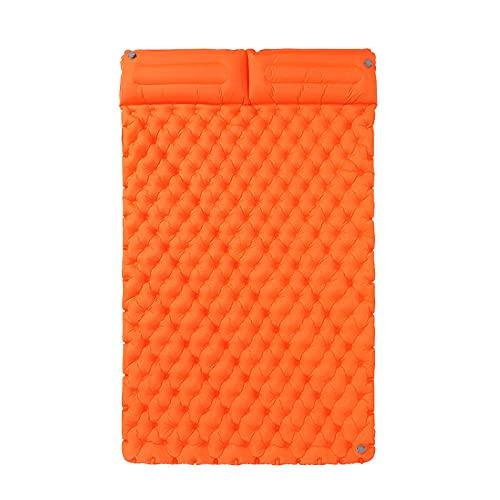 POTTBONS Cuscino Per Dormire Da Campeggio Ultra Leggero Portatile 40D Nylon Tpu Gonfiabile Mat All'Aperto Campeggio Cuscino Per Dormire Picnic Doppio A Prova Di Umidità Mat-Arancio
