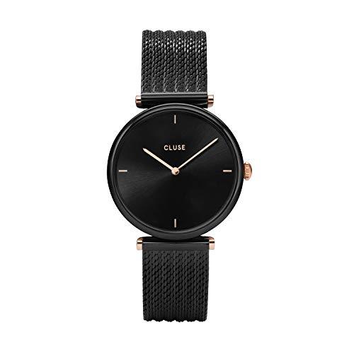 Cluse Damen Analog Quarz Uhr mit Edelstahl Armband CL61004