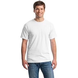 Gildan mens Heavy Cotton 5.3 oz. T-Shirt(G500)-Assorted-Large-Sets 10, Black and White