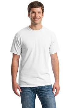 Gildan Men s Heavy Cotton T-Shirt White XXX-Large  Pack of 6
